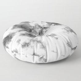Black and White Tie-Dye Spots Floor Pillow