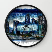 singapore Wall Clocks featuring Singapore  by sladja