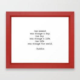 Make the moments count Framed Art Print