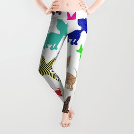 colorful chihuahuas on parade  Leggings