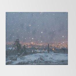 City Snow Throw Blanket