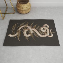 The Snake and Fern Rug