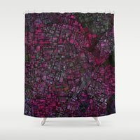 maps Shower Curtains featuring Fantasy City Maps 1 by MehrFarbeimLeben