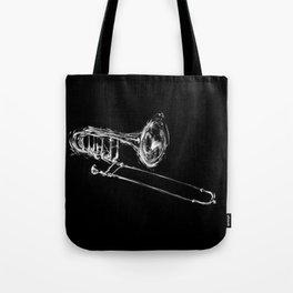 Black Trombone Tote Bag