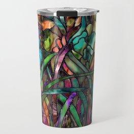 Candy Coated Irises Travel Mug