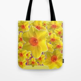YELLOW-GOLD DAFFODILS FLOWER COLLAGE Tote Bag