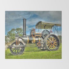 Fowler T3 Road Roller Throw Blanket