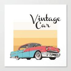 Vintage Car Illustration Canvas Print