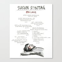 Canvas Prints featuring Susan Sontag on Love, unlimited print by wendy macnaughton