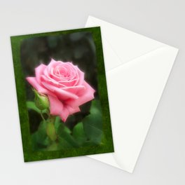 Pink Roses in Anzures 3 Blank P1F0 Stationery Cards