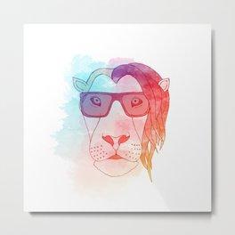 Dubstep Lion Metal Print