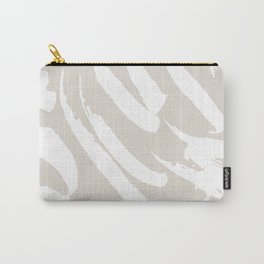 Neutral Brush Strokes Carry-All Pouch