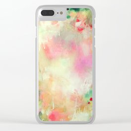 Happy Garden Clear iPhone Case