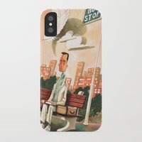 forrest gump iPhone & iPod Cases featuring Forrest Gump Tribute by Daniela Volpari