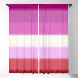 Lesbian Pride Flag Blackout Curtain