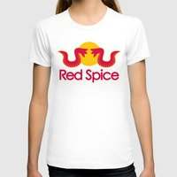 spice T-shirts featuring Red Spice by Optimapress