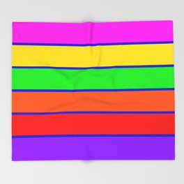Colorful rAinbow stripes Throw Blanket