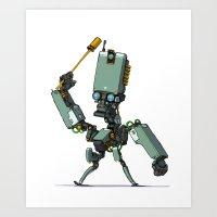 Robot-Parade-ONE Art Print