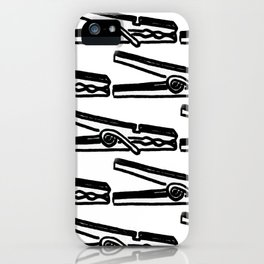 Clothespin iPhone Case