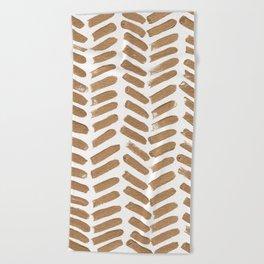 Gold Chevron Beach Towel
