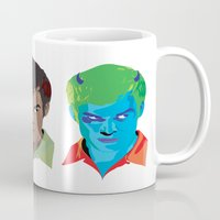 dexter Mugs featuring Dexter by Chad Trutt
