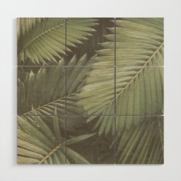 Tropical Leaves Wood Wall Art