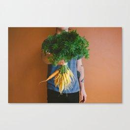Florida & Farmer's Market Carrots Canvas Print