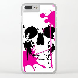 Pink Skull Clear iPhone Case