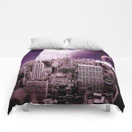 New New York : Galaxy City Dark Mauve Comforters