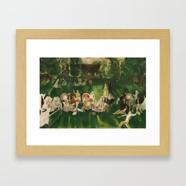 """Classical Masterpiece """"The Tennis Tournament"""" by George Bellows, 1920 Framed Art Print"""