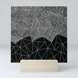 Digital Zentangle Incomplet Dark Mini Art Print