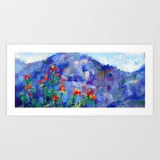Tuscan View Art Print