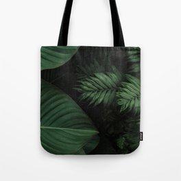 Tropical Beauty // Tropical Boho Leaves meets Minimalist Patterns Tote Bag