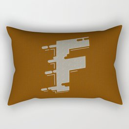 BOLD 'F' DROPCAP Rectangular Pillow