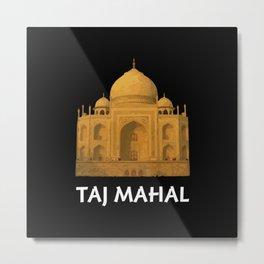 Taj Mahal Golden Sunset Metal Print