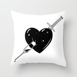 Hook on love Throw Pillow