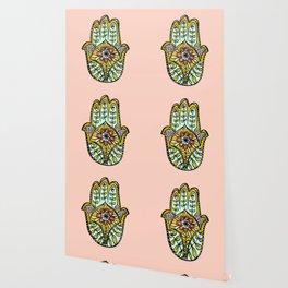Floral Hamsa Wallpaper