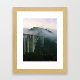 Bixby Bridge, Big Sur, California Framed Art Print