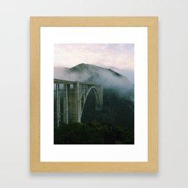 Bixby Bridge, Big Sur, California Framed Art Print