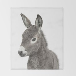 Baby Donkey Throw Blanket