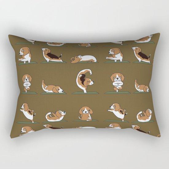 Beagle Yoga Rectangular Pillow