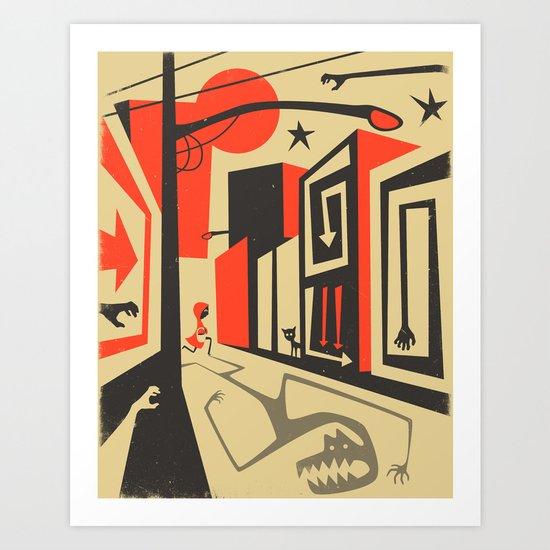 Little Red, Big City Art Print