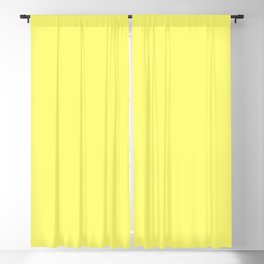 From The Crayon Box – Laser Lemon Yellow - Bright Yellow Solid Color Blackout Curtain