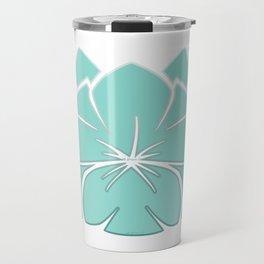 M Designs co lotus plumeria blossom Travel Mug