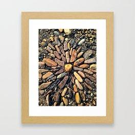 River Mandala Framed Art Print