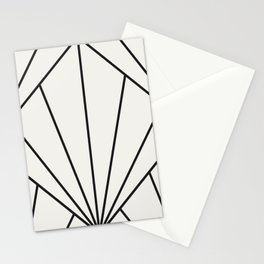 Diamond Series Sun Burst Charcoal on White Stationery Cards