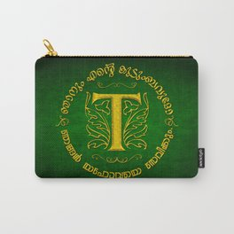Joshua 24:15 - (Gold on Green) Monogram T Carry-All Pouch
