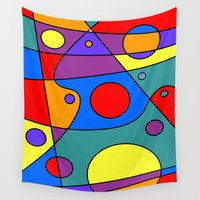 solar system Wall Tapestries featuring Abstract #71 Solar System by Ron Trickett (Rockett Graphics)
