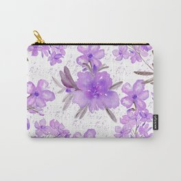 Watercolor lavender lilac brown modern floral Carry-All Pouch