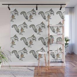 Squirrel Army Wall Mural